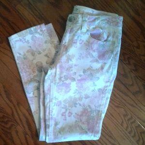 Seven 7 floral print size 10 skinny jeans